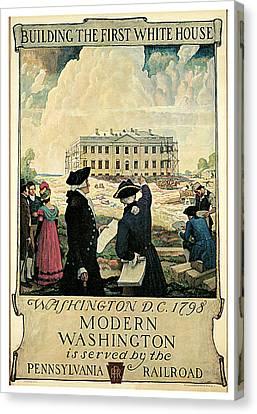 N.c Canvas Print - The Keystone Pennsylvania Railroad by N C Wyeth