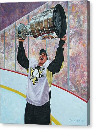 The Kid And The Cup Canvas Print by Allan OMarra