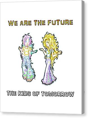 Canvas Print featuring the painting The Kids Of Tomorrow Ariel And Darla by Shawn Dall