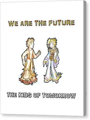 Canvas Print featuring the digital art The Kids Of Tomorrow Corie And Albert by Shawn Dall