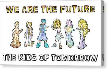 Canvas Print featuring the digital art The Kids Of Tomorrow by Shawn Dall