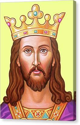 Byzantine Canvas Print - The King In Purple by Munir Alawi