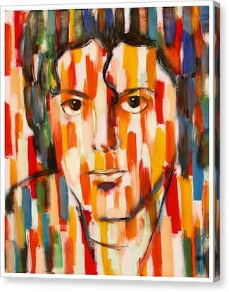 the king of pop Michael Jackson Canvas Print by Habib Ayat