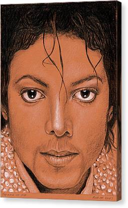 The King Of Pop Canvas Print by Rob De Vries