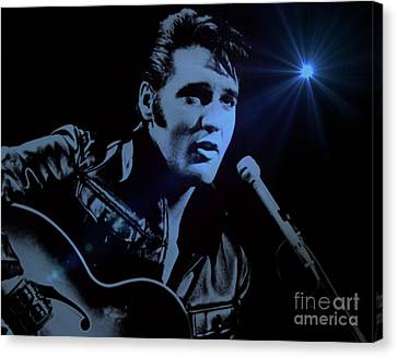 The King Rocks On Canvas Print by Al Bourassa