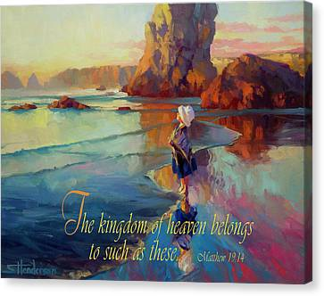 The Kingdom Belongs To These Canvas Print