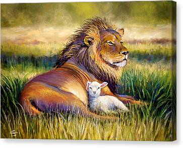 Lion Canvas Print - The Kingdom Of Heaven by Susan Jenkins
