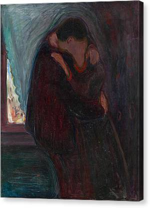 The Kiss Canvas Print by Edvard Munch
