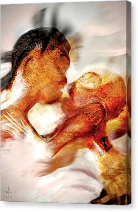 The Kiss Canvas Print by Pennie  McCracken