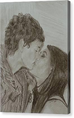 The Kiss Canvas Print by Quwatha Valentine