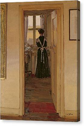 The Kitchen Canvas Print by Harold Gilman