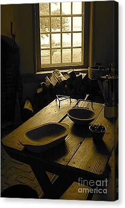 Canvas Print featuring the photograph The Kitchen by Nicola Fiscarelli