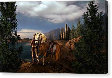 The Knight Of The Kingdom Canvas Print by Virginia Palomeque
