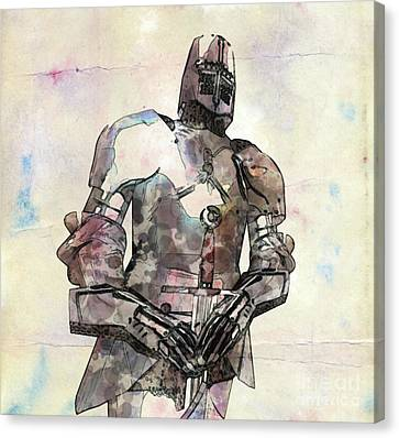 The Knight Pop Art By Mary Bassett Canvas Print