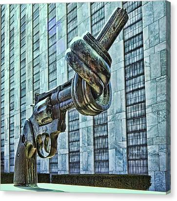 The Knotted Gun Canvas Print by Allen Beatty