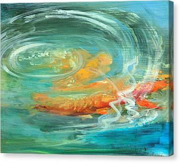 The Koi Pond Canvas Print by Sally Seago