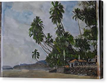 The Konkan Coastline Canvas Print