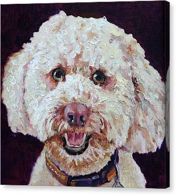The Labradoodle Canvas Print by Enzie Shahmiri