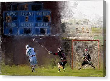 The Lacrosse Shot Canvas Print by Scott Melby