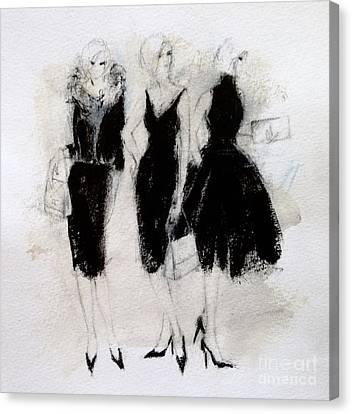 Ladies In Black Canvas Print