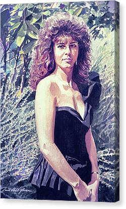 Canvas Print - The Lady In Black by David Lloyd Glover