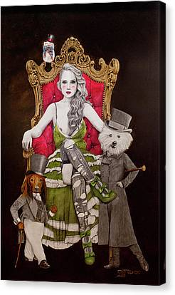 The Lady Of Erstwhile And The Royal Guard Canvas Print