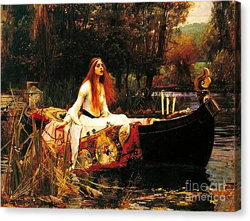The Lady Of The Shalot Canvas Print by Pg Reproductions