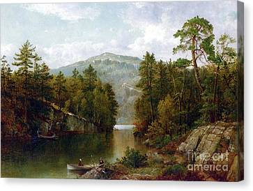 Mountains Canvas Print - The Lake George by David Johnson