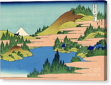 The Lake Of Hakone In The Segami Province Canvas Print by Hokusai