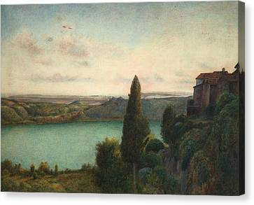 The Lake Of Nemi Canvas Print by Marie Spartali Stillman