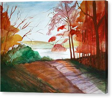 Branch Hill Pond Canvas Print - The Lake Road by Julie Lueders