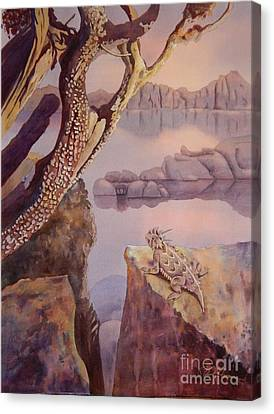 Watson Lake Canvas Print - The Lake Watcher by Robert Hooper