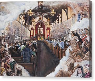 The Lamb's Supper Canvas Print