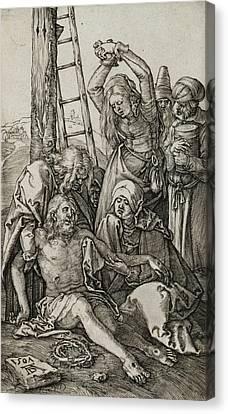 The Lamentation Canvas Print by Albrecht Durer