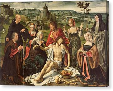 The Lamentation Of Christ Canvas Print by Joos van Cleve