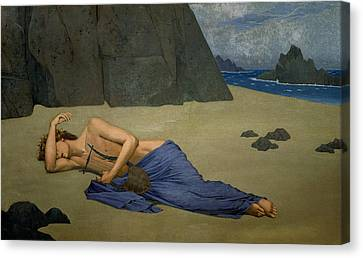 The Lamentation Of Orpheus Canvas Print by Alexandre Seon