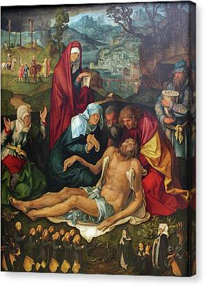 The Lamentation Over The Dead Christ Canvas Print by Albrecht Durer
