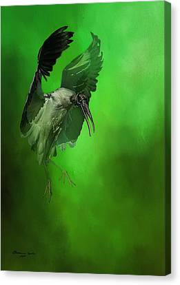 The Landing Canvas Print