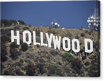 Pacific Coast States Canvas Print - The Landmark Hollywood Sign by Richard Nowitz