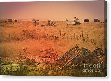 The Landscape Of Dungeness Beach, England 2 Canvas Print