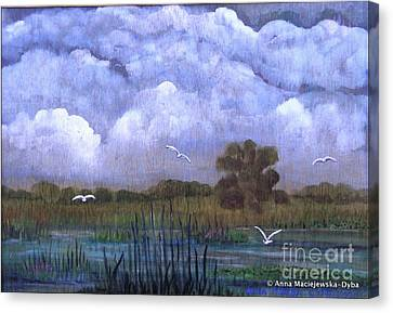 The Landscape With The Clouds Canvas Print