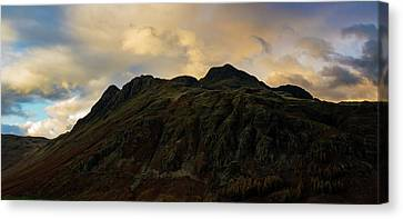 The Langdale Pikes At Sunset Canvas Print by John Collier