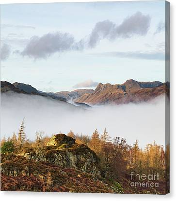 The Langdale Pikes From Holme Fell Canvas Print