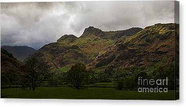 The Langdale Pikes Canvas Print by John Collier
