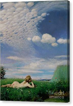 The Lark Canvas Print by Pal Szinyei Merse