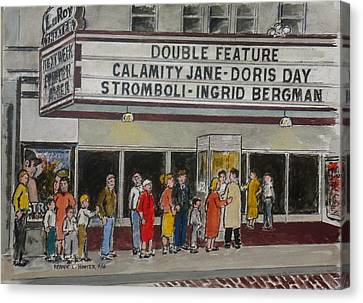 The Laroy Theater Portsmouth Ohio 1953 Canvas Print by Frank Hunter