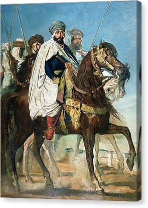 The Last Caliph Of Constantine Canvas Print by Theodore Chasseriau