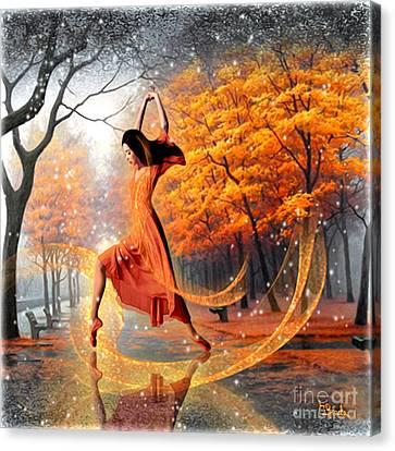 The Last Dance Of Autumn - Fantasy Art  Canvas Print by Giada Rossi