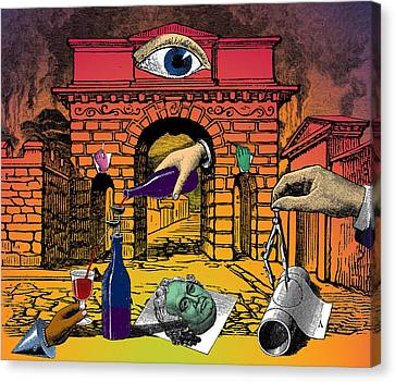 The Last Days Of Herculaneum Canvas Print by Eric Edelman