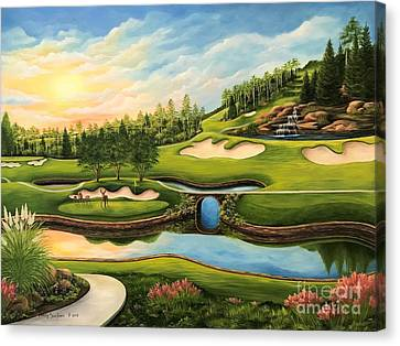 The Last Foursome Of The Day Canvas Print